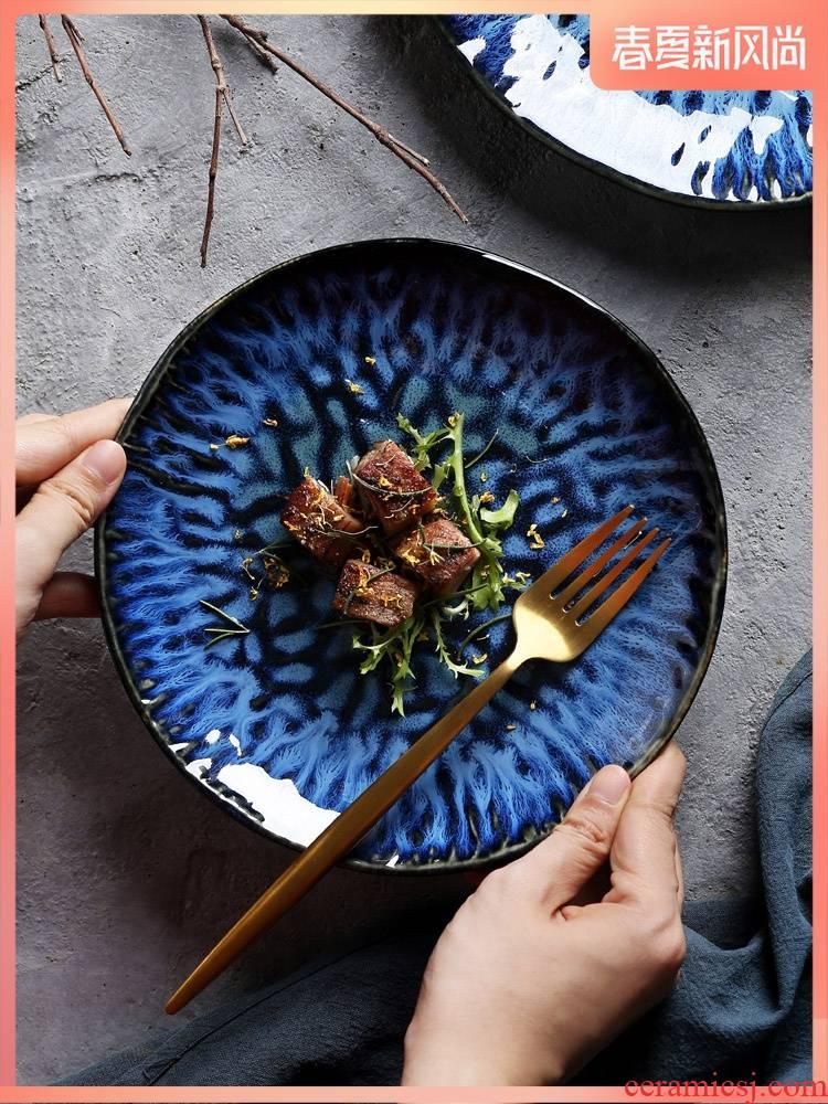 Creative up ceramic plate of pasta dish beefsteak 0 alien disk the disk pack home restaurant business