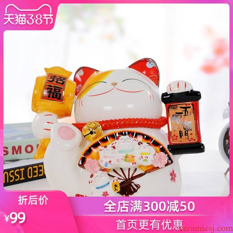 Savings creative express boy plutus cat ceramic web celebrity may save desirable notes with money piggy bank piggy bank