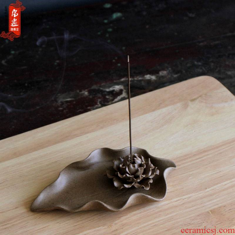 Jingdezhen manual clay joss stick inserted deep TaoXiang meddling in the special - shaped peony incense inserted
