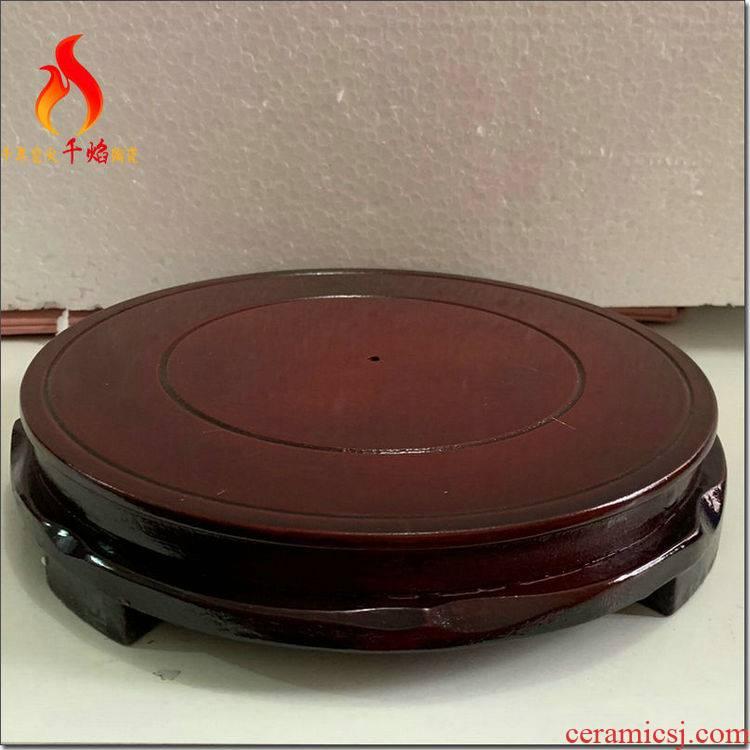 Thousands of flame jingdezhen ceramic decorative vase tank base rounded multi - function flowerpot shelf parts furnishing articles