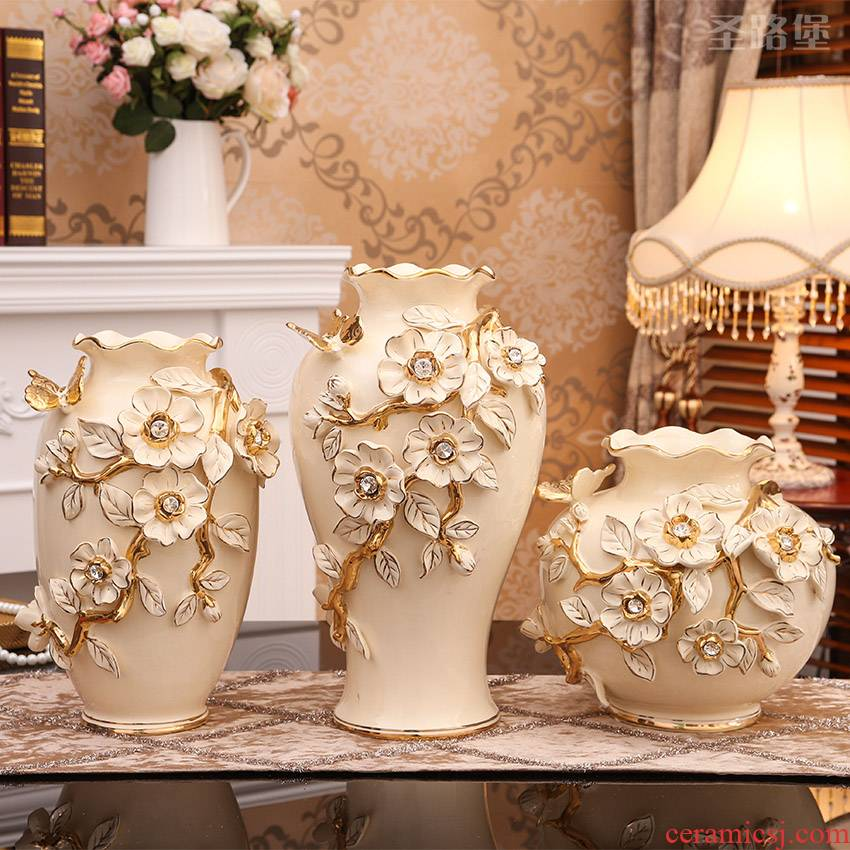 European vase simulation flower tea table soft outfit ceramic jewelry TV ark place to live in the sitting room porch decoration