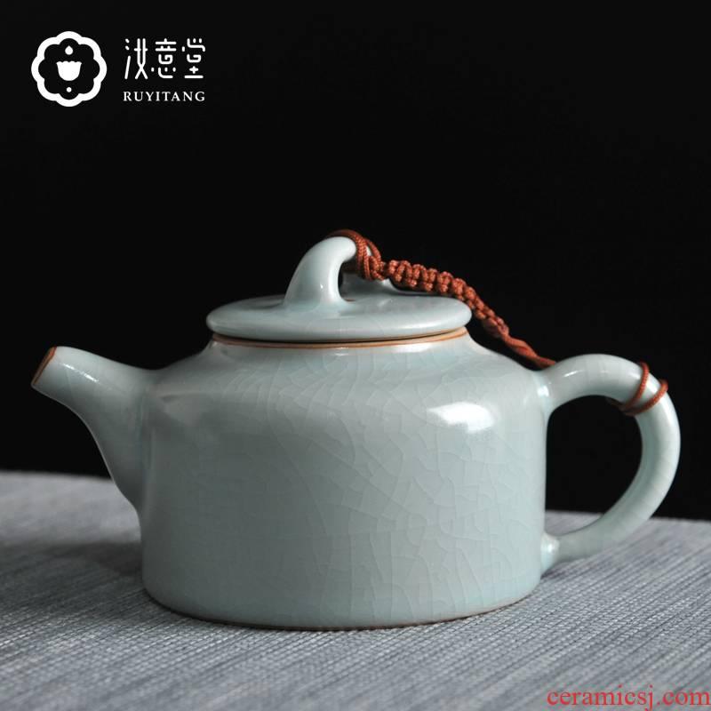 Your up kung fu tea pot archaize ceramic teapot Your porcelain single pot pot CiHu DE clock pot open piece of pure manual household