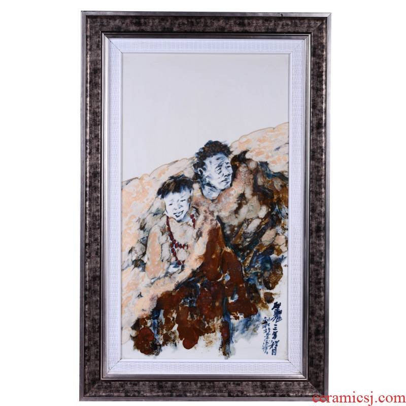 Offered home - cooked hand - made ceramic decoration in jingdezhen porcelain porcelain plate painting central scroll painting the sitting room place adorn article collections