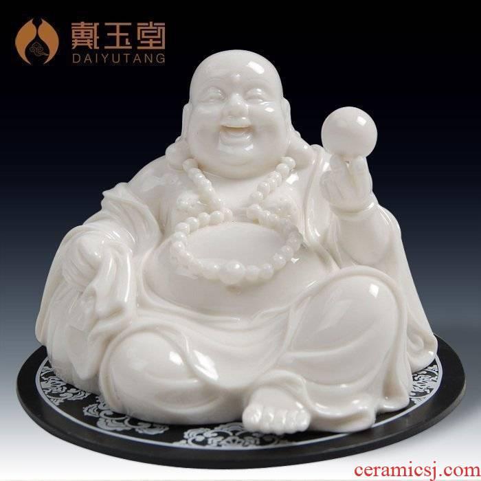 Yutang dai household ceramics consecrate figure of Buddha that occupy the home furnishing articles dehua white porcelain pu tai - maitreya pot - bellied laughing Buddha