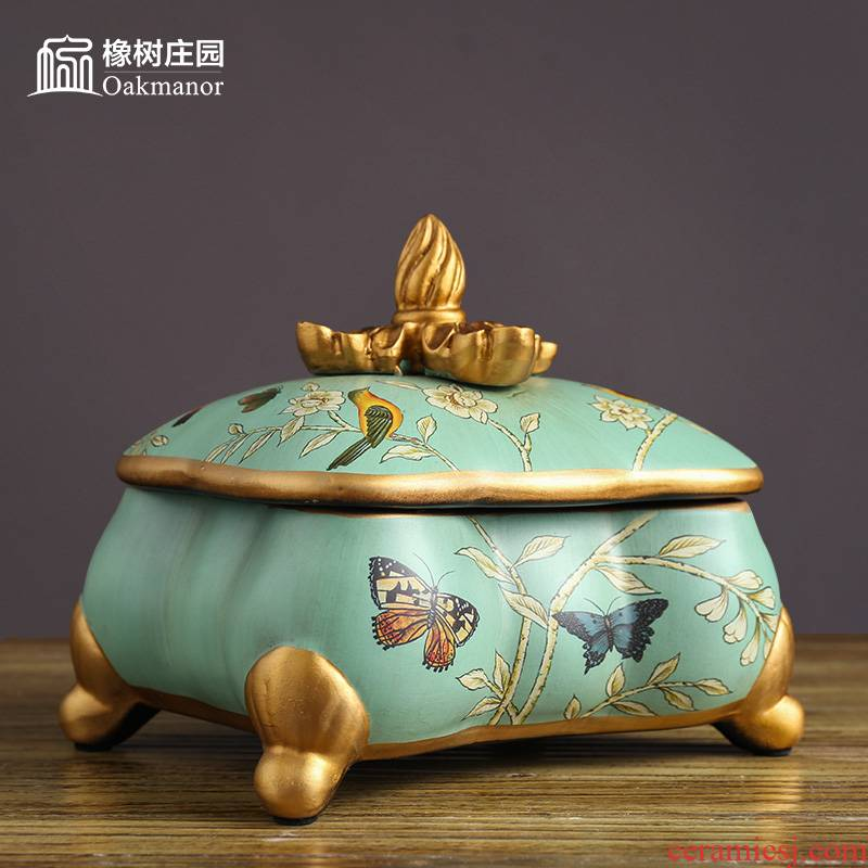 Ceramic jewelry box decorated furnishing articles artical Chinese antique household dresser restoring ancient ways the receive jewelry box