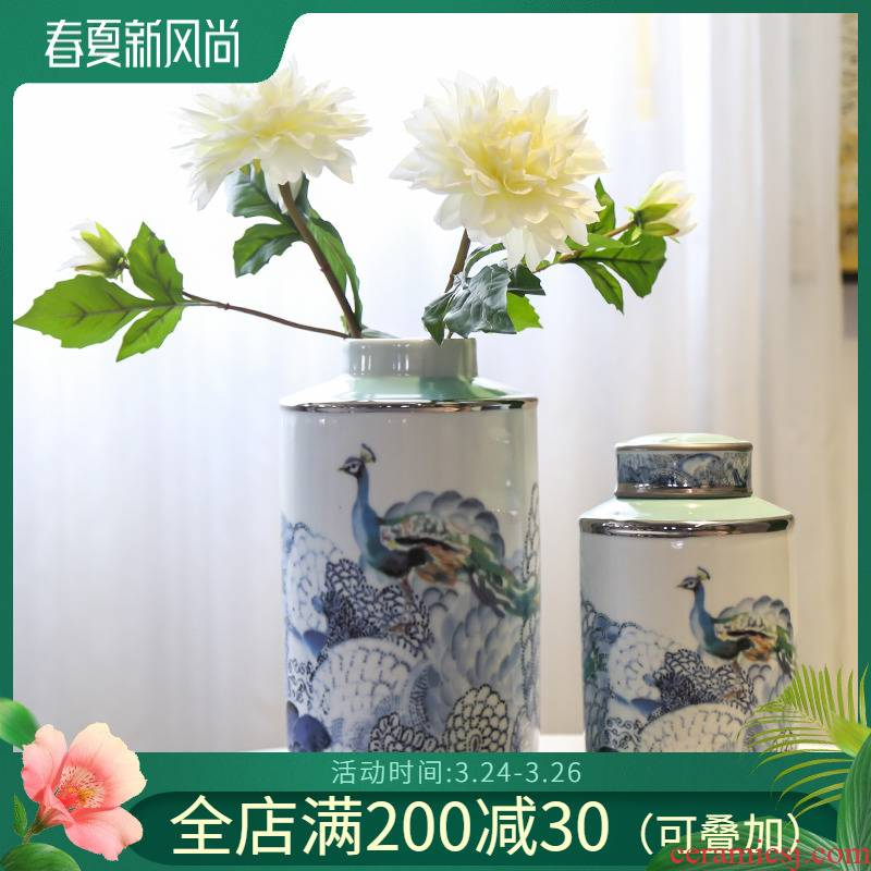 Jingdezhen ceramic vases, flower implement of new Chinese style piggy bank decorative candy jar sitting room porch soft outfit creative furnishing articles