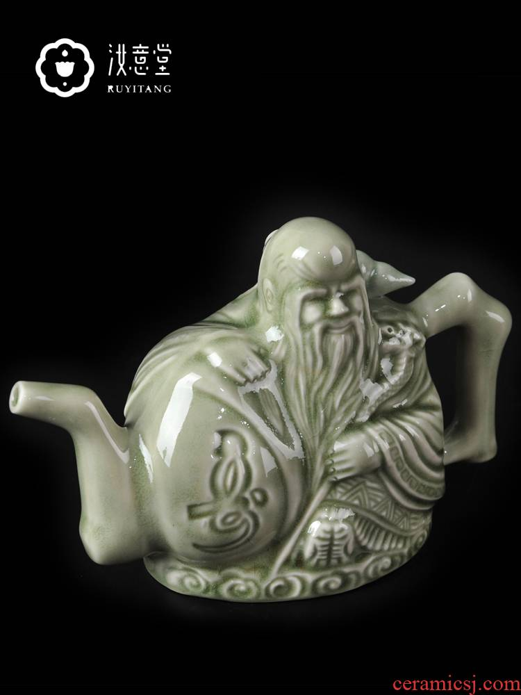 Creative ceramic wine yao state porcelain pot pot of shaanxi baijiu, two has conscience pot of Chinese antique household gifts