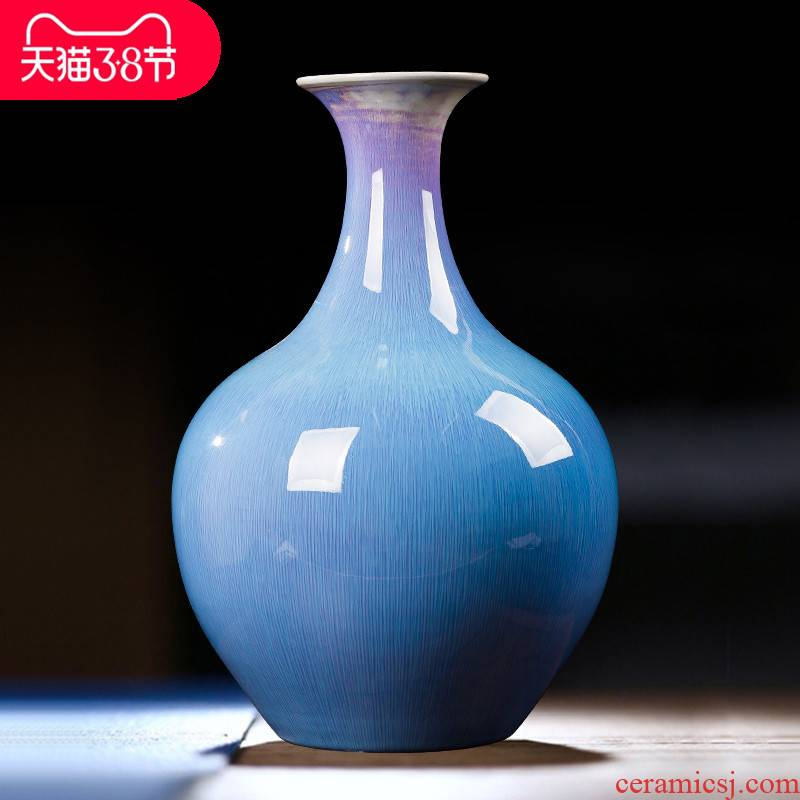 Contracted and I jingdezhen chinaware big vase flower arrangement, household decoration hotel wine accessories furnishing articles