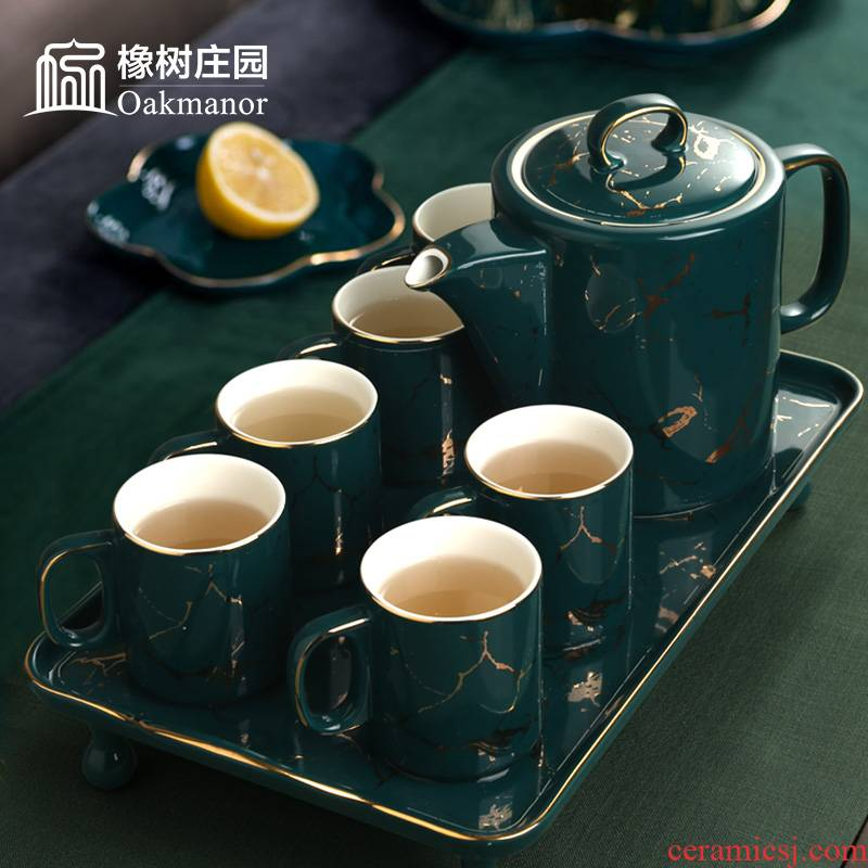 The Nordic idea of high - grade ceramic cup coffee in The afternoon tea set small key-2 luxury American - style coffee cup with pallets