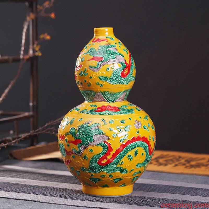 Jingdezhen ceramics, vases, flower arranging is small gourd crafts hand - made vases furnishing articles home sitting room adornment