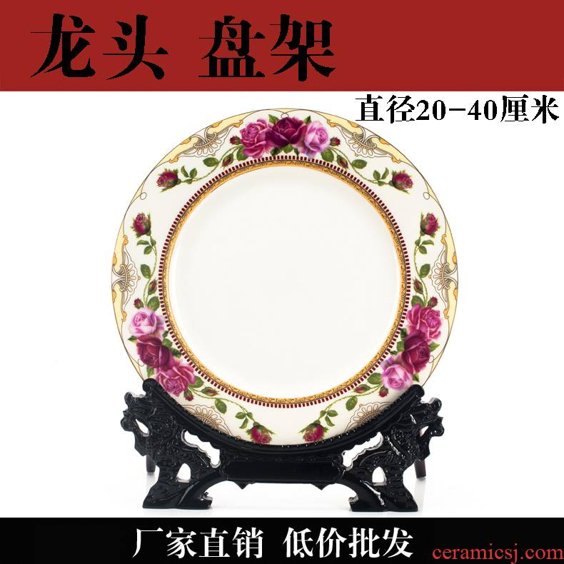 Manufacturers wholesale leading China plate special base resin decorations hang dish plate bracket ceramic plate