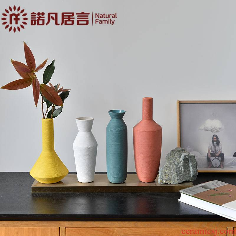 Nordic morandi color ceramic vase sitting room hotel furnishing articles dried flower arranging flowers creative I and contracted household decoration