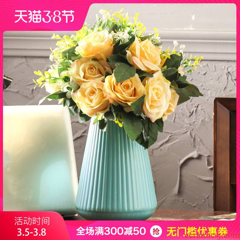 I and contracted ceramic flower vase continental sitting room TV cabinet study desktop creative home furnishing articles ornament