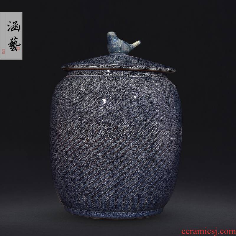 Jingdezhen ceramics archaize multifunctional save tea tea sealed cylinder wake furnishing articles tea warehouse storage of bread seven as cans