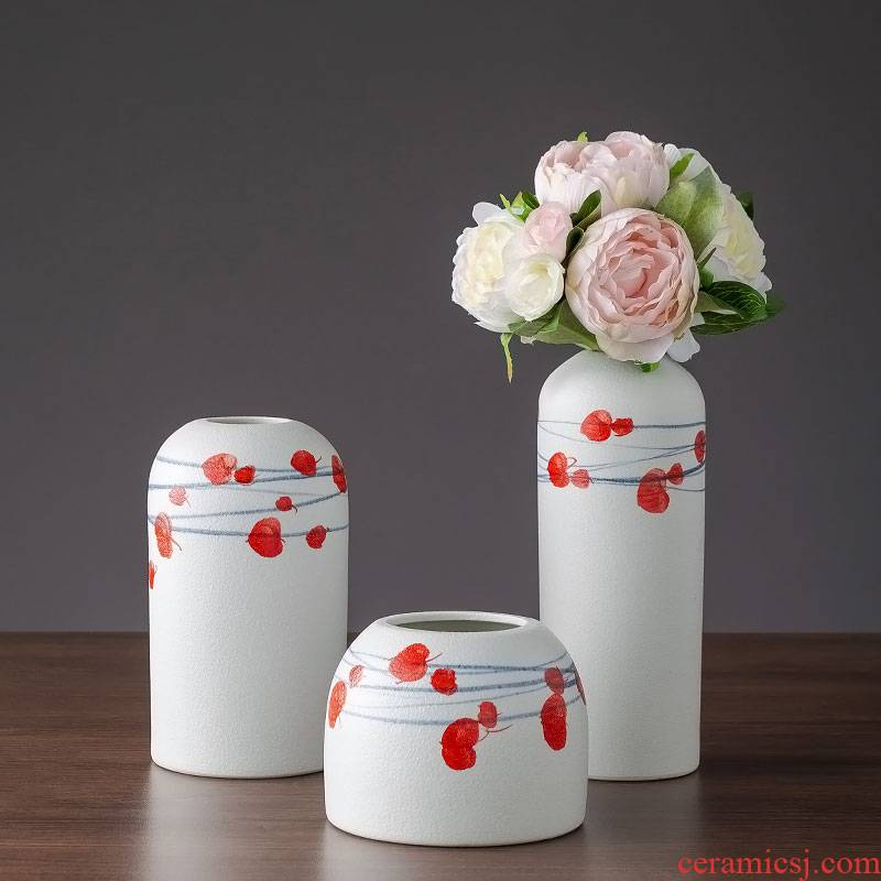 Jingdezhen ceramic vases, I and contracted sitting room flower arranging place dry flower receptacle desktop decoration home decoration