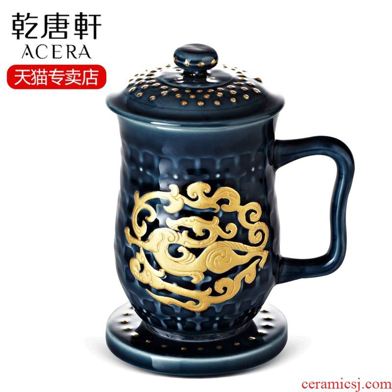All done Tang Xuan porcelain cup coloured drawing or pattern high cup and cup boss office glass cup tea cup cup of the National People 's meets