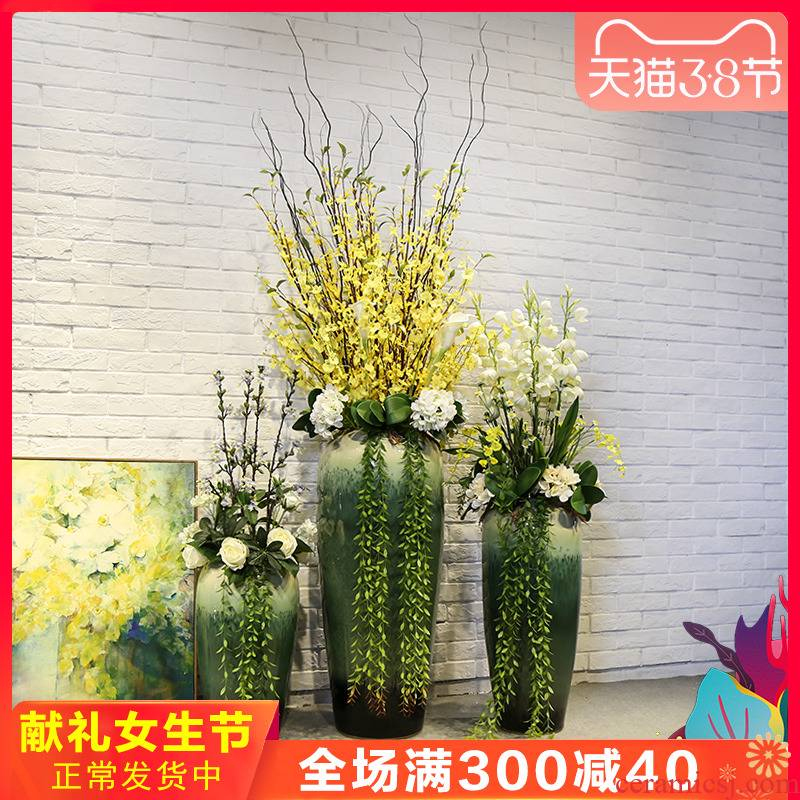 Jingdezhen ceramic vase of large hotel lobby decoration floral stores the lobby between example flower receptacle