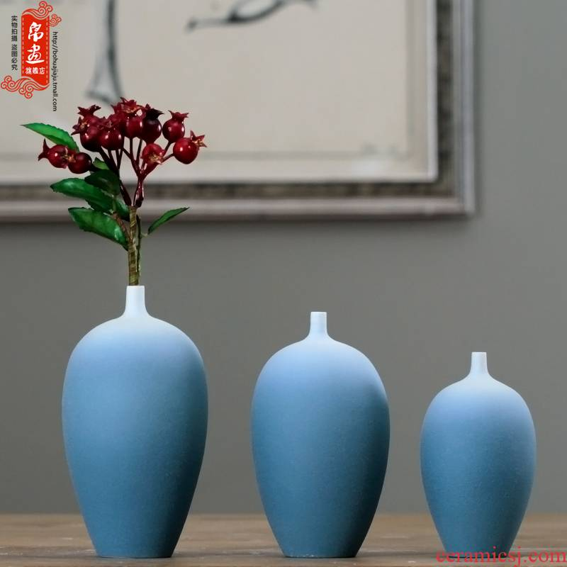 Jingdezhen ceramic dry flower vase furnishing articles flower implement creative home sitting room ark, the table decoration flower arrangement