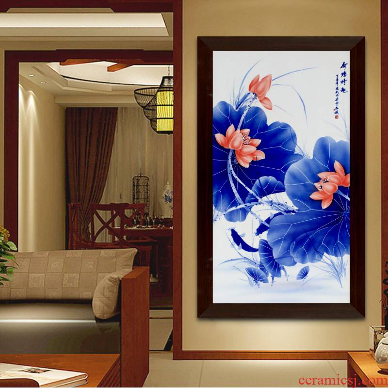 Hand - made ceramic plate painting murals sofa background wall of the sitting room adornment I and contracted vertical version of porch corridor hang a picture