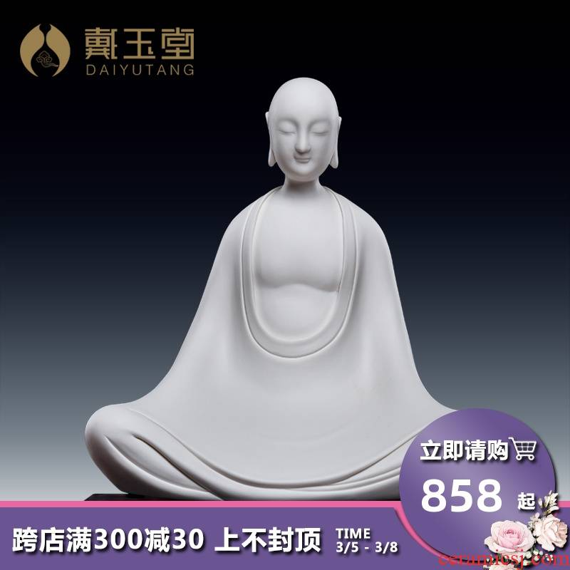 Yutang dai creative home furnishing articles sitting room porch decoration ceramics characters of Buddha zen without phase/D26-07