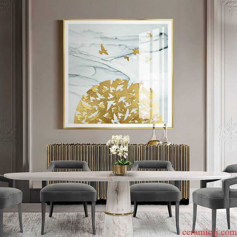 Modern new Chinese style porch decoration light key-2 luxury corridor hotel villa crystal porcelain painting soft outfit sofa background wall hang a picture