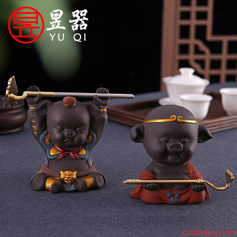 Yu is violet arenaceous tianpeng marshal pet pig tea to keep tea tray was furnishing articles support tea tea tea accessories creative play