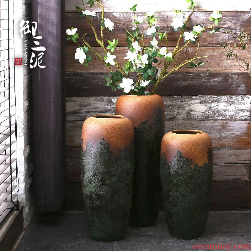 Jingdezhen ceramic vase landing American I and contracted sitting room place European household adornment flower arranging flowers