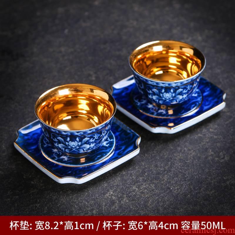 Kung fu tea sample tea cup dehua porcelain tea master cup single cup bowl of household ceramic tea cups