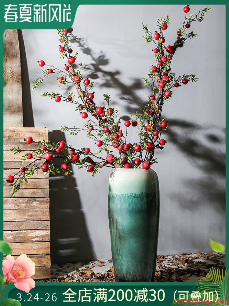 New Chinese style living room of large vases, jingdezhen ceramic flower flower implement example room porch place hotel restaurant