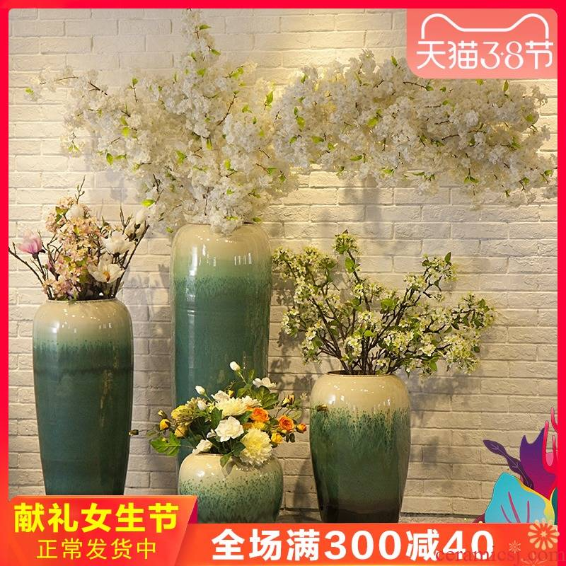 Jingdezhen ceramic creative European I and contracted large vase flower flower theme hotel furnishing articles