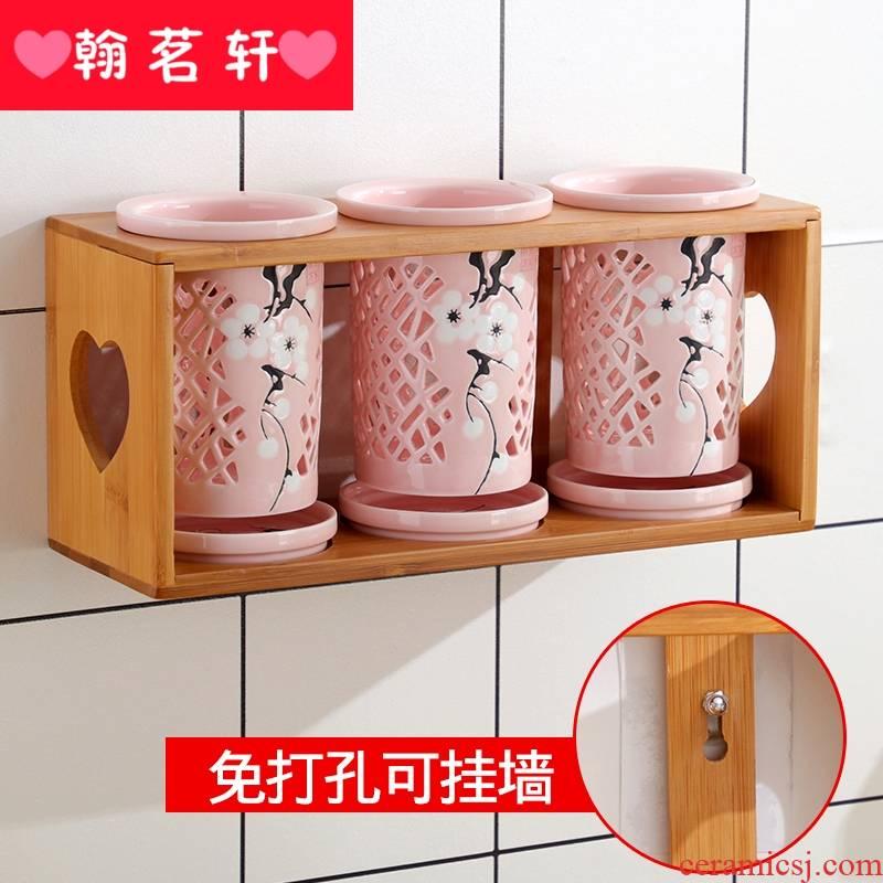 Can wash chopsticks box of kitchen utensils shelf spoon, chopsticks boxes, informs ceramic cylinder chopsticks waterlogging under caused by excessive rainfall