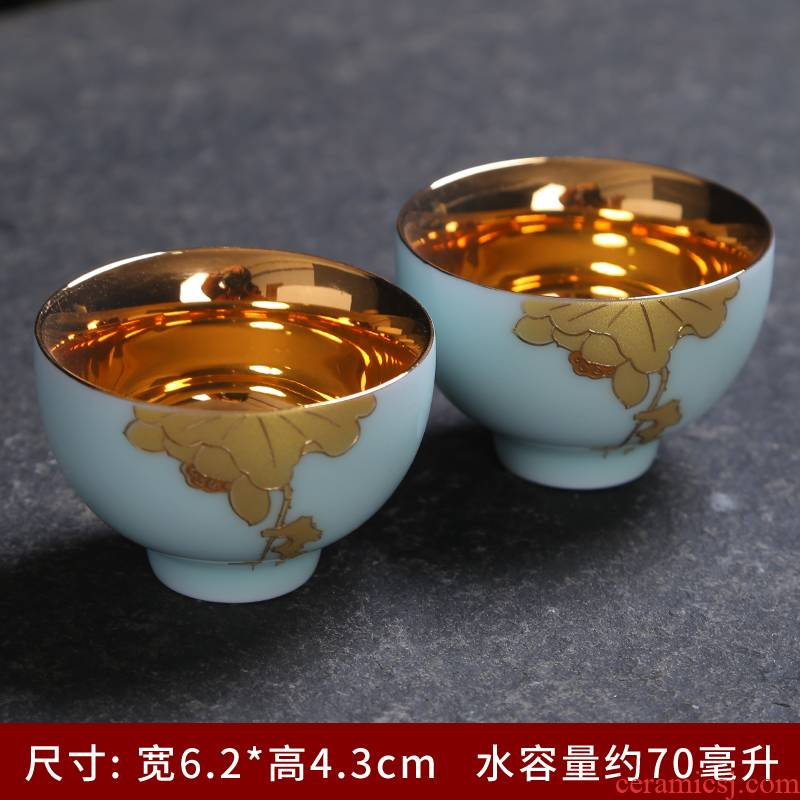 Celadon single CPU kung fu tea set household contracted and I tea cup teapot tea tao sitting room tea art