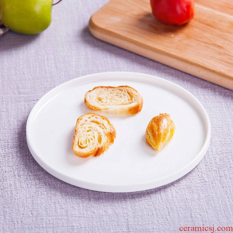 Jingdezhen white ipads China tableware tea tray porcelain trays salad plate of fruit bowl pasta pizza plate