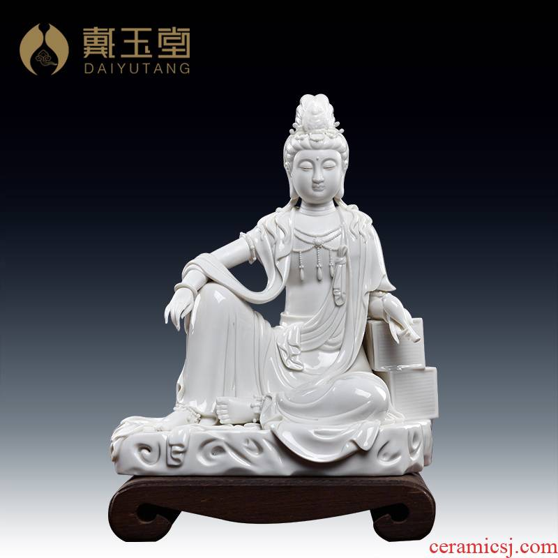 Yutang dai village work Su Du ceramic Buddha craft ornaments furnishing articles by rock at ease guanyin/D27-105