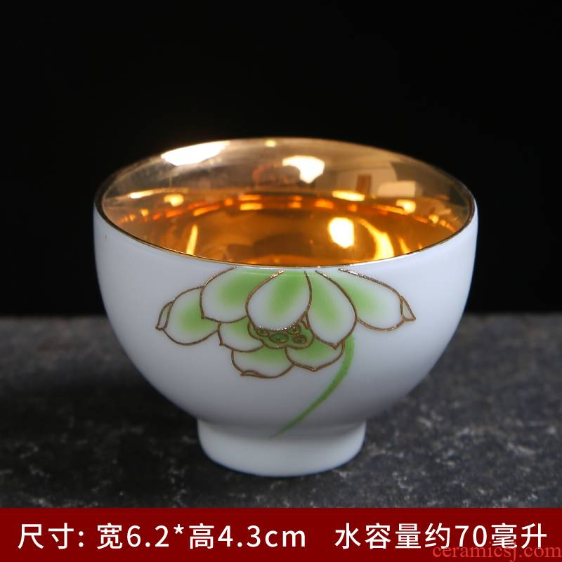 Inferior smooth sample tea cup ceramics up porcelain master cup personal cup single CPU kung fu tea cups tea cup