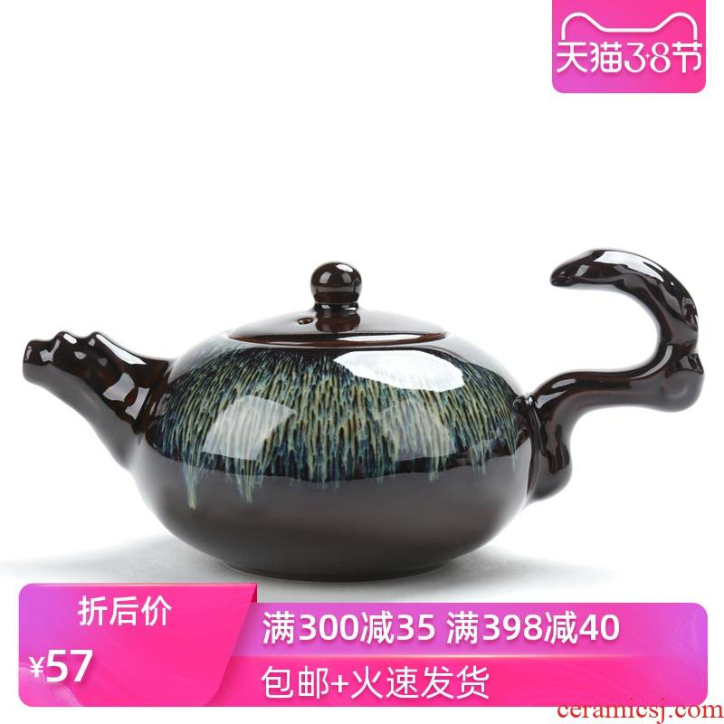 Poly real sheng up built red glaze, the tea set suits for the Chinese large capacity kung fu tea set ceramic lid bowl masterpieces
