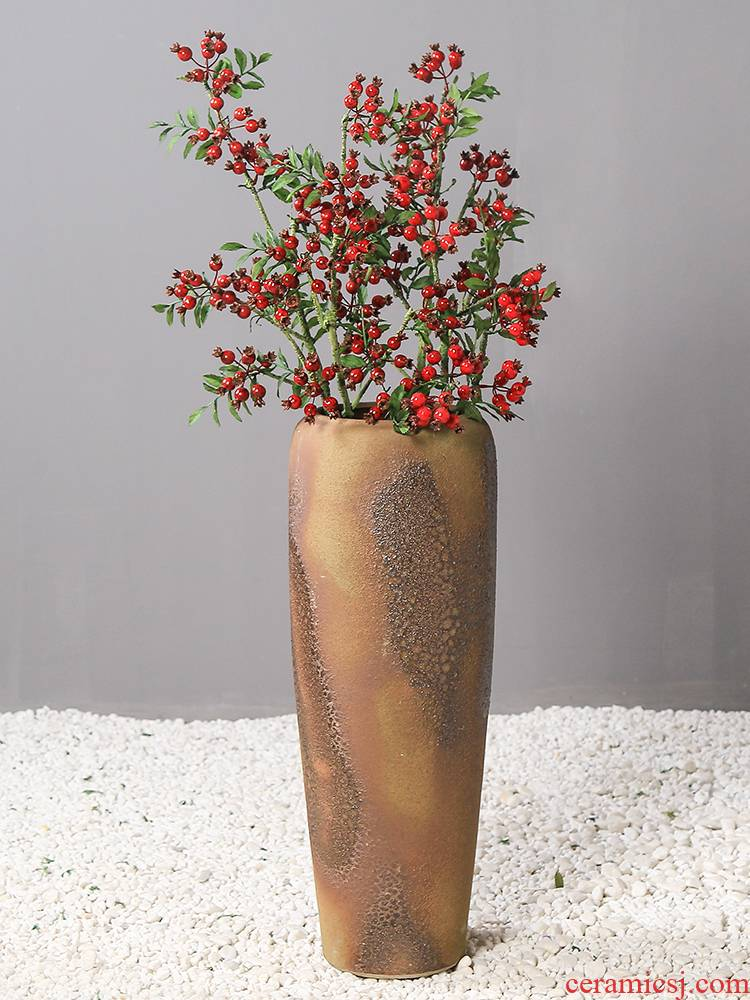 Flowers, rich fruit simulation Flowers decorative floral ground ceramic vase continental restoring ancient ways is the living room floor suits for