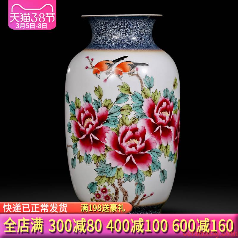 The Master of jingdezhen ceramics up hand - made enamel vase flower arranging Chinese style porch sitting room office furnishing articles