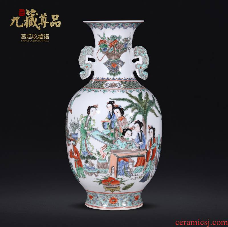 About Nine sect Buddha product unique American longnu statute of Chinese antique hand - made vases furnishing articles of jingdezhen ceramics decoration
