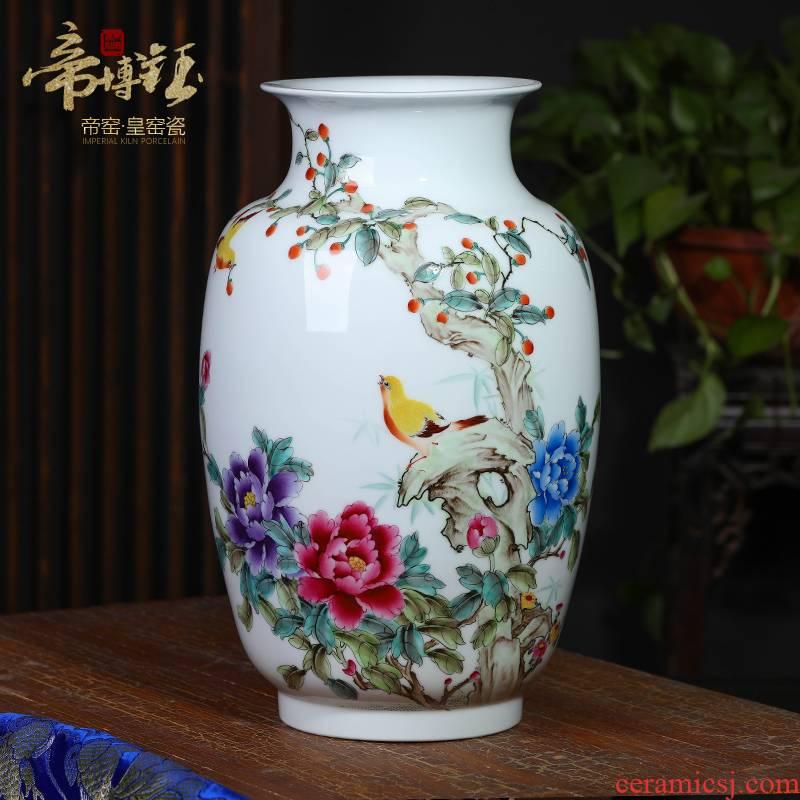 The Master of jingdezhen ceramics hand - made pastel sound spring figure idea gourd vases, modern household adornment handicraft furnishing articles