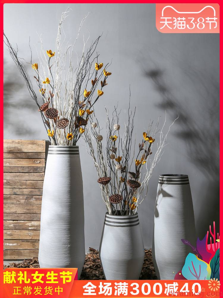 Jingdezhen ceramic vase of large new Chinese style restoring ancient ways flowers, dried flowers, floral outraged entities shop furnishing articles store hall