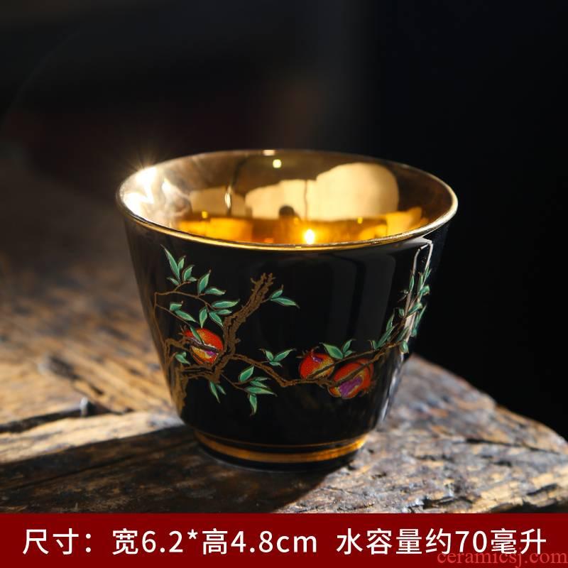 Kung fu tea cups jingdezhen masters cup sample tea cup single tea cup, single little teacups hand - made ji blue porcelain tea set
