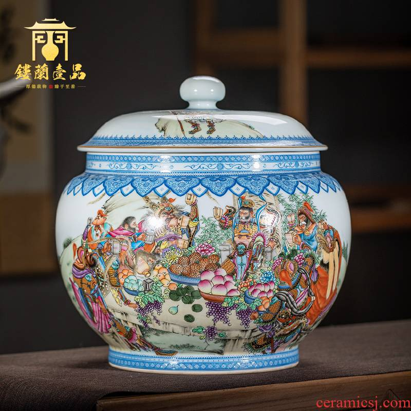 Jingdezhen ceramics all hand big heaven tea pot Chinese style household adornment handicraft furnishing articles