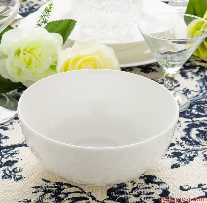 Ronda about ipads porcelain tableware rice bowls bowl 6 inch ceramic bowl rainbow such use white large household kitchen bowls