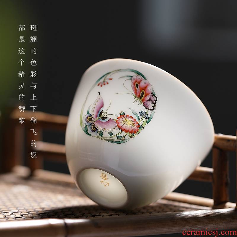 Mountain sound jingdezhen ceramic cups kung fu tea cup single master cup single cup sample tea cup pure manual small tea cups