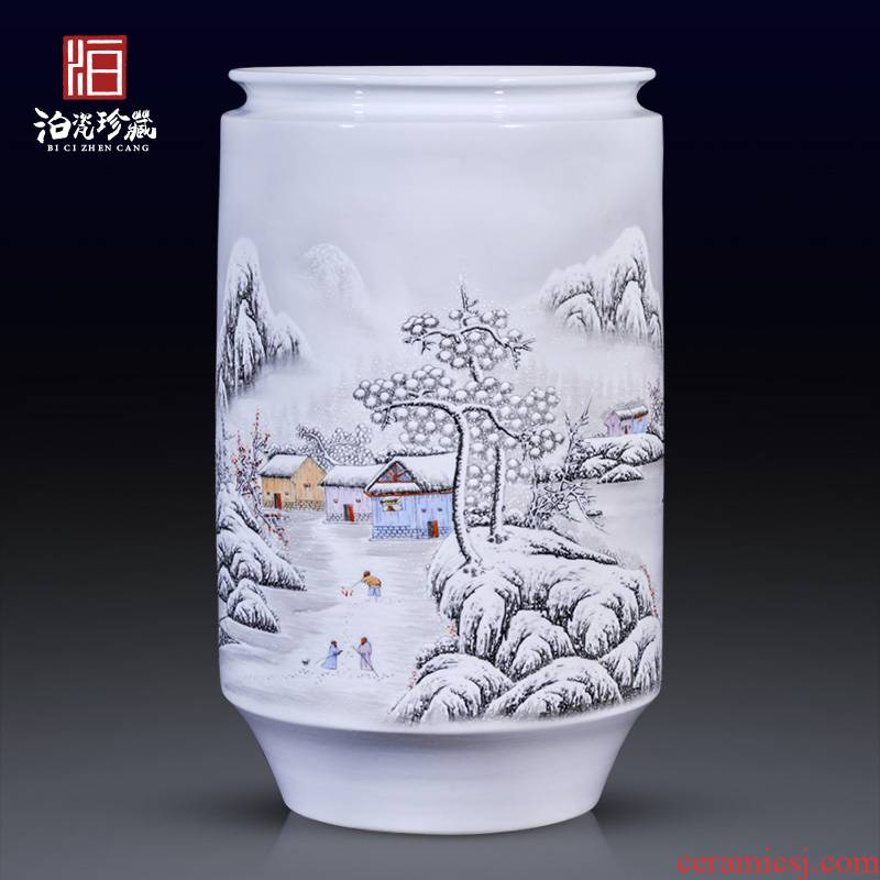 Jingdezhen ceramics hand - made snow pastel large vases, new Chinese style in modern TV ark, sitting room adornment is placed