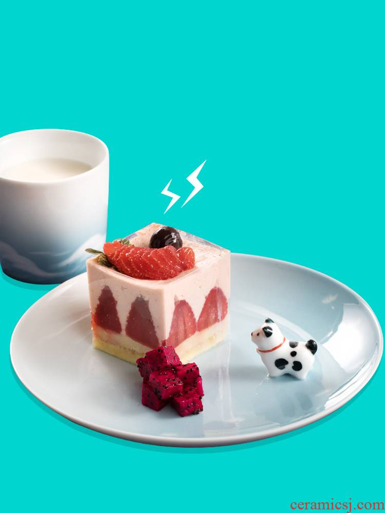 Wilson of day 0 lovely dogs the jingdezhen ceramic creative nice web celebrity style plate dessert plate