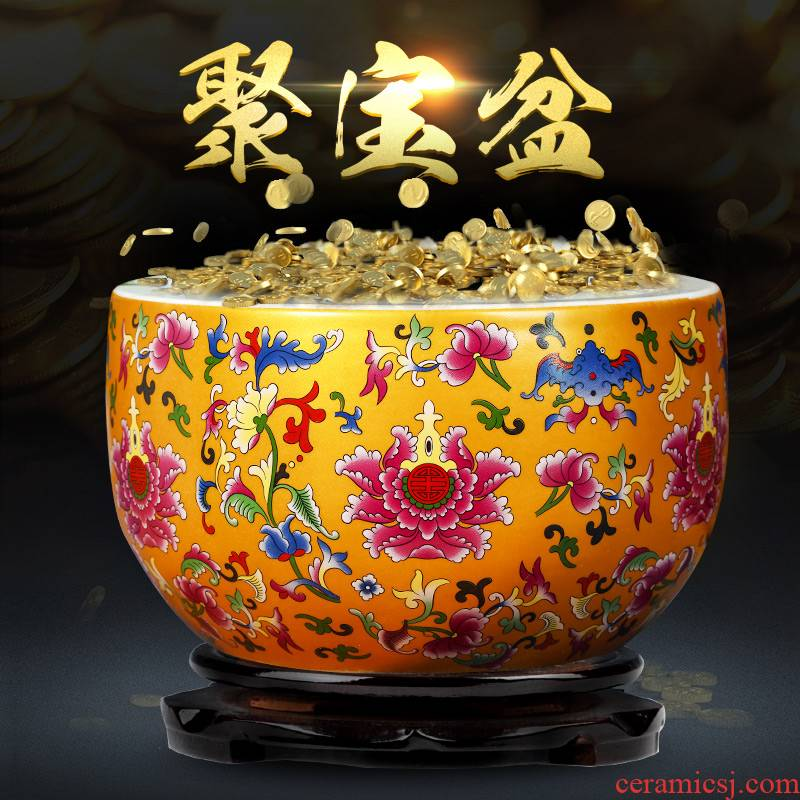 Jingdezhen ceramics cornucopia furnishing articles feng shui plutus aquarium fish bowl sitting room home decorative arts and crafts