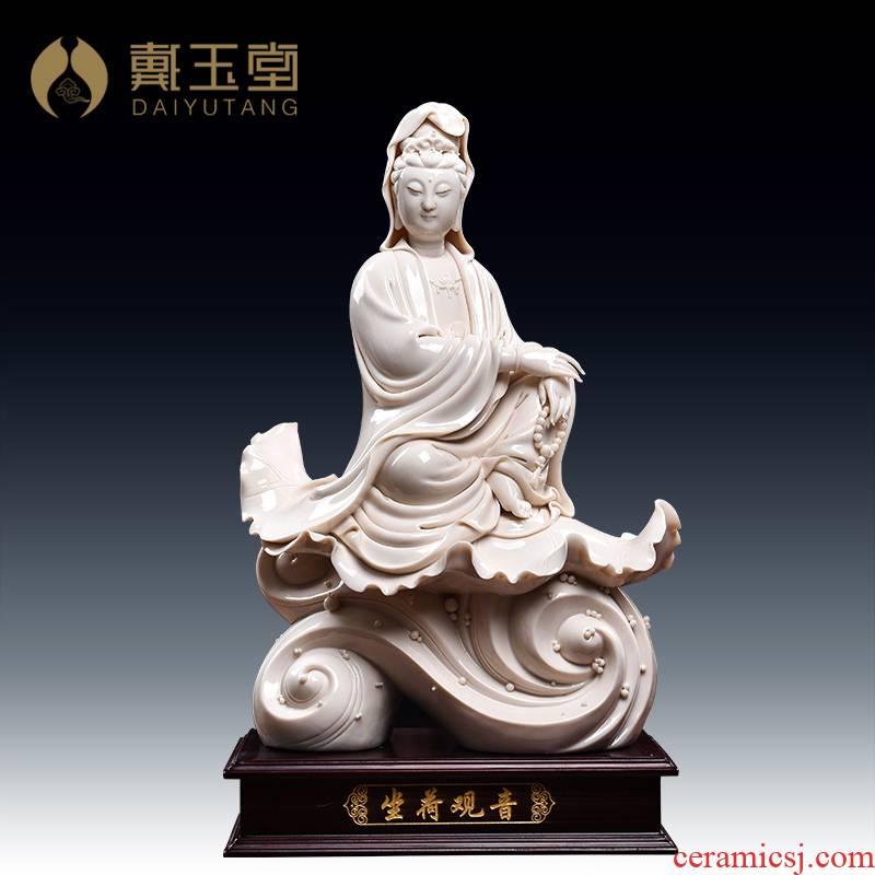 Red ceramic Buddha handicraft furnishing articles Lin yutang dai child auspicious manually signed by Dutch guanyin/perhaps - 33