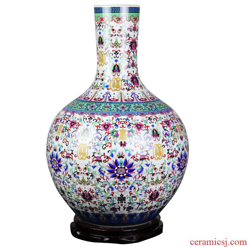 Jingdezhen ceramic furnishing articles large vases, flower arranging hotel new Chinese style household, the sitting room porch decoration